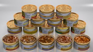 3D purina gourmet cat food model