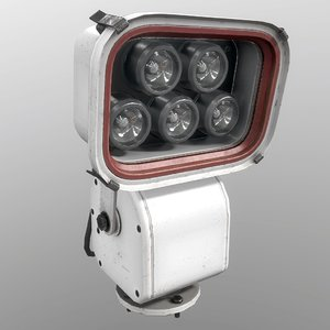 3D model floodlight gray