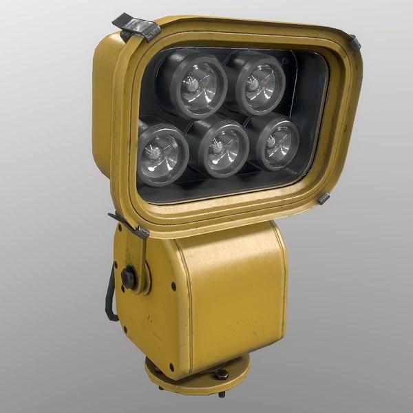 3D floodlight yellow