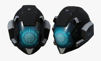 Helmet scifi military combat space cyborg robot military