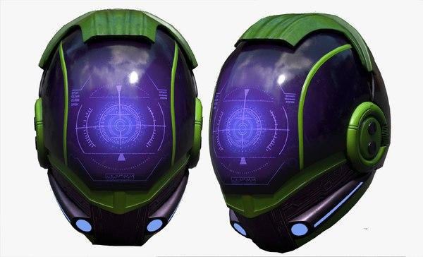 helmet character 3D model
