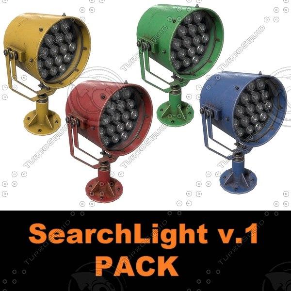 searchlight v 1 pack 3D model