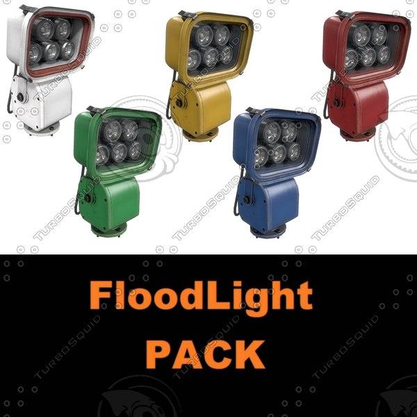 floodlight pack 3D model