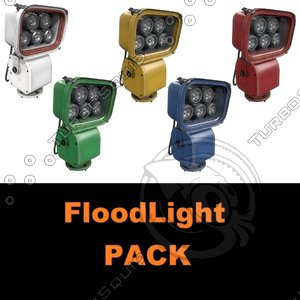 floodlight pack 3D model