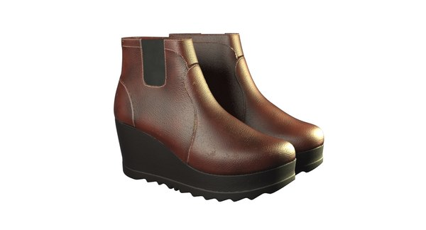women boots shoes 3D model