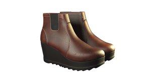 women boots shoes 3D model