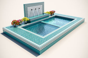 swimming pool jacuzzi 3D model