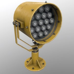 searchlight v 1 yellow 3D model