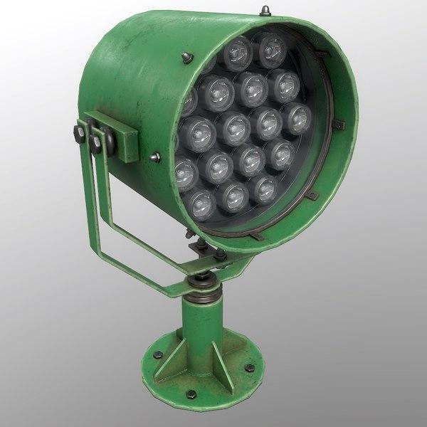 3D searchlight v 1 green model