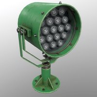 3D searchlight v 1 green model