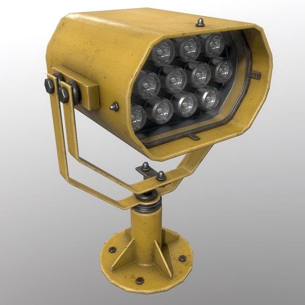 searchlight v 2 yellow 3D model