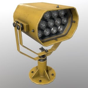 searchlight v 2 yellow 3D model