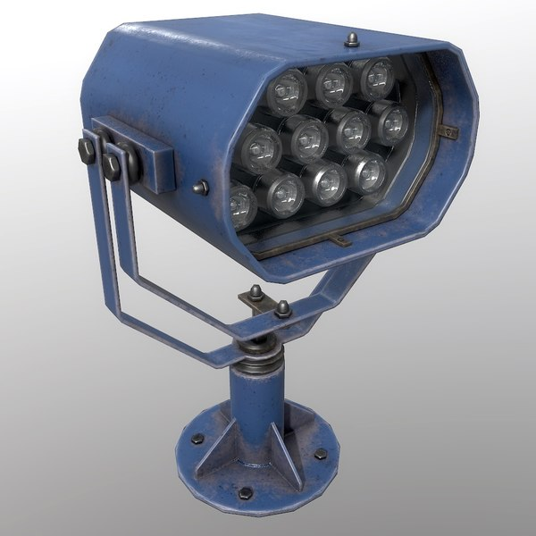 searchlight v 2 blue 3D model