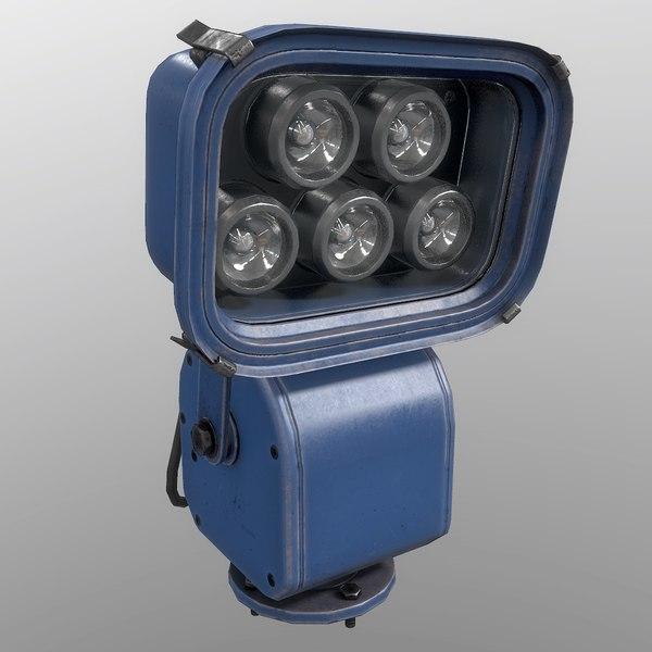 3D floodlight blue model