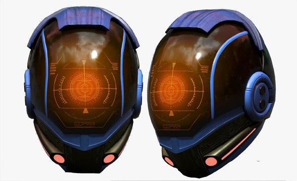 helmet sci fi 3D