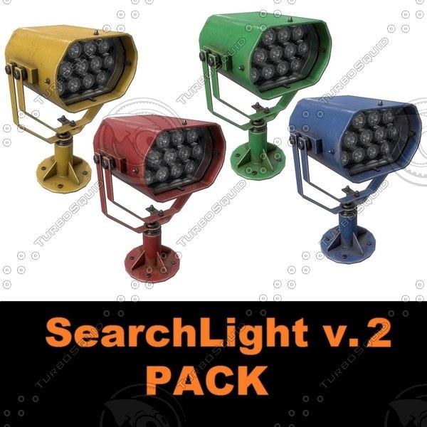3D searchlight v pack model