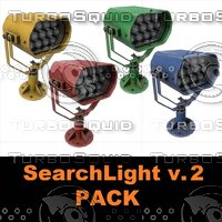 3D searchlight v pack model