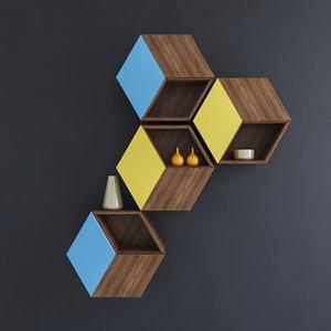 wall shelf 3D