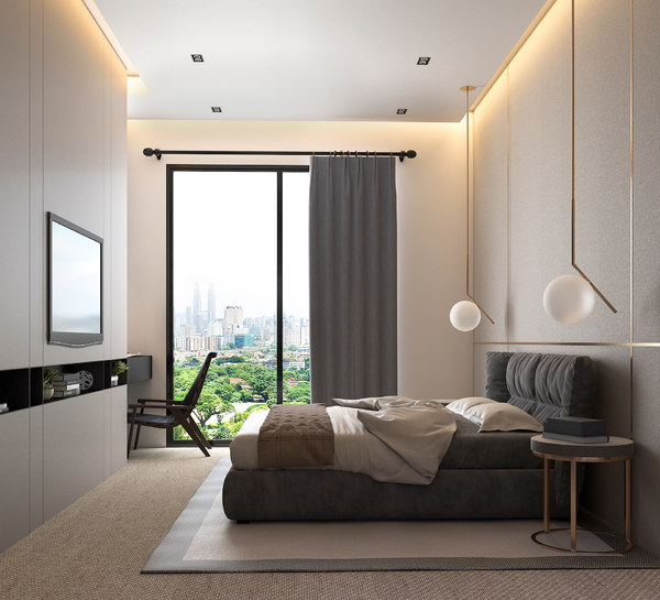 interior bedroom wc scenes 3D model