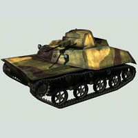 3D light tank t-30 ussr model