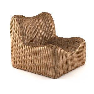 waterhyacinth   armchair natural 3D model