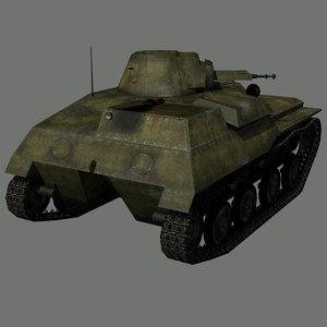 3D model light tank t-40s