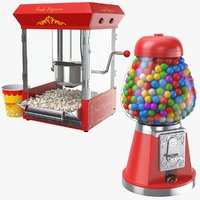 3D model real candy machines