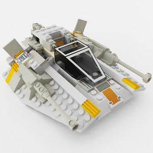 3D block snowspeeder model