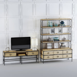 - tv unit set 3D model