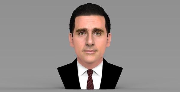 michael scott office bust 3D model