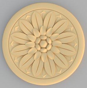 flower rosette model