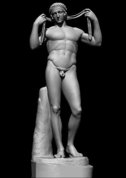 3D diadoumenus greek sculpture