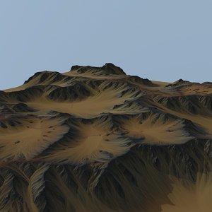 3D model land landscape scape