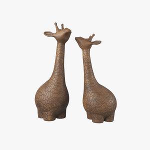 3D sculpture giraffe