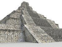 piramide xochicalco scan 16k 3D model