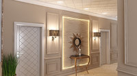 3D hall interior design xalqlar model