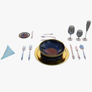 tablewares plate table model