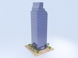 3D skyscraper architecture building model