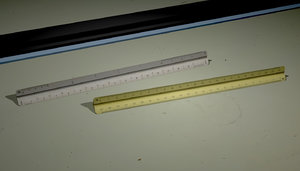 3D scale rulers model