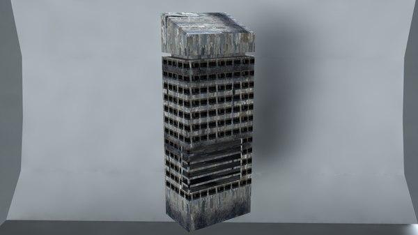 3D ruin building
