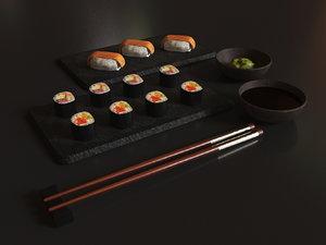 3D - sushi set