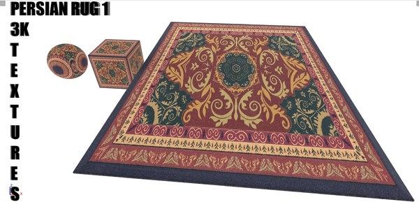 3D 3k persian rug