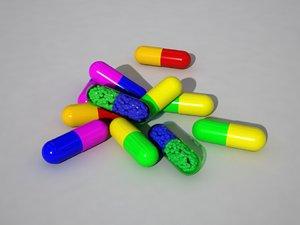 vitamins capsules 3D model