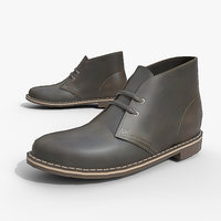 mens shoe desert boot 3D