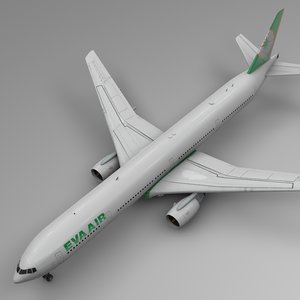 3D eva air boeing 777-300er model