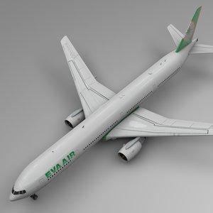 3D eva air boeing 777-300er model