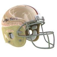 3D gold football helmet