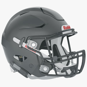 3D riddell speedflex black helmets model