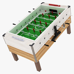 foosball table ball 3D model