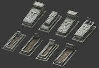 tomb stone graveyard 3 3D model